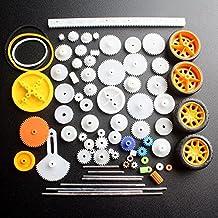 DIKAVS 78 tipos de engranajes paquete juguete coche accesorios motor varios engranajes eje cinturón bujes