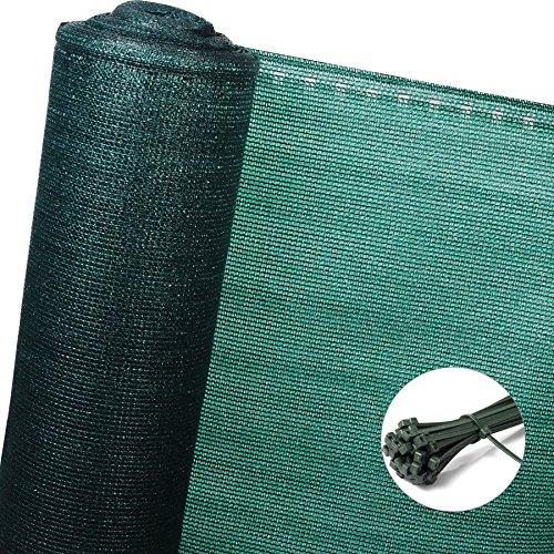 EUGAD Zaunblende Schattiernetz Sichtschutz Windschutz Staubschutz Sonnenschutz Garten Gewebe Netz,grün, 1x10m (GZZ1180m2)