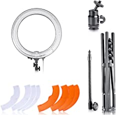 Neewer 14-inch Outer 12-inch Inner Dimmable Ring Light Lighting Kit - 50W Fluorescent Continuous Ring Light