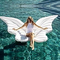 Idea Regalo - HDCM Fila galleggiante gonfiabile Ali d'angelo gonfiabili Anello gonfiabile per il nuoto del Giocattolo per piscina gonfiabile (250*180cm)