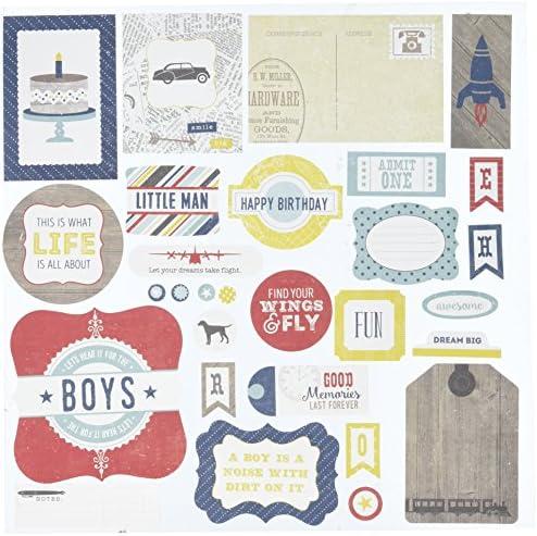 Echo Park Paper sottabiti e Pinstripes Ephemera Cardstock-Die Cuts-Boy, Cuts-Boy, Cuts-Boy, altri   Conosciuto per la sua eccellente qualità    acquisto speciale    Terrific Value  f2f268