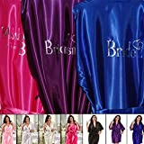Personalised Kimono / Robe. Bridal Wedding Party,Coloured Robes