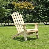 AZBRO Adirondack Gartenstuhl/Muskoka Stühle, Holz Natur