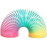 Festpresenter – miniregnbåge fjäderleksak av plast – 8-pack