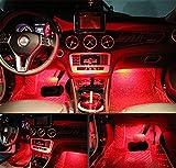 4Auto LED Innen 1Beleuchtung Kit w/3M Aufkleber–Licht LED KFZ-Innenraum Auto Innen Licht Auto LED-Atmosphäre Beleuchtung–Preis XES (rot)
