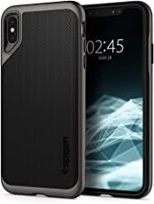 Spigen Neo Hybrid, iPhone XS Max Hülle, Zweiteilige Handyhülle Modische Muster Silikon Schale und PC Rahmen Schutzhülle Case für iPhone XS Max (6.5 Zoll) 2018 (Gunmetal) 065CS24838