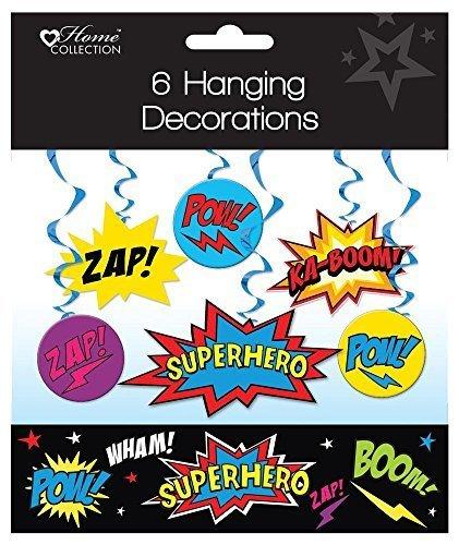 Party-banner (Party-Banner zum Aufhängen für Kindergeburtstage, Superhelden-Design)
