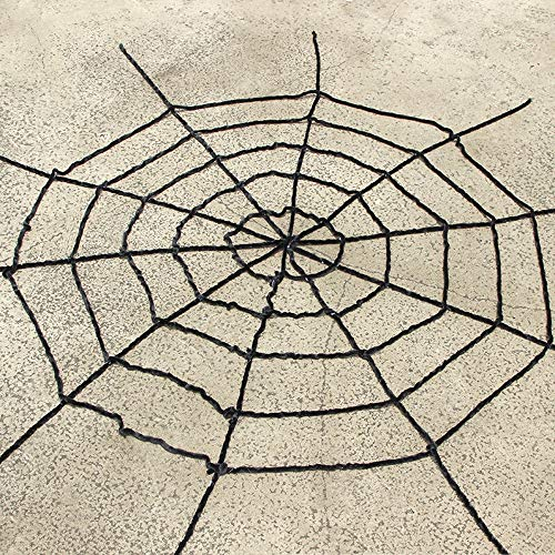 WH-MJ Halloween-Spinnen-Netz Dekoration Requisiten Haunted House Bar Dekoration Weiß Schwarz Spinnennetz Thick Line Ohne Spinne (Color : Black, Size : 350cm)