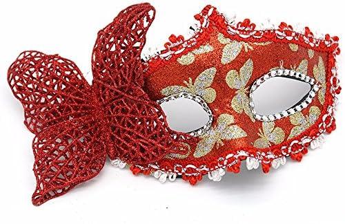 PromMask Masques Masque Masque Masque de Protection Domino Faux Devant Maquillage Danse Spectacle fête Cuir de Podium Masque Patch Papillon Cuir Papillon Rouge 61bae7