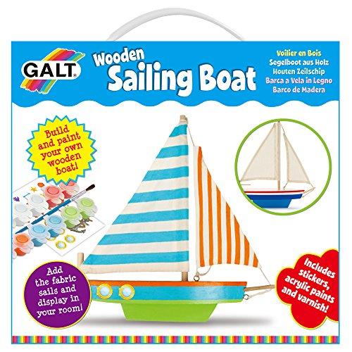 Galt 1004354 - Segelboot aus Holz, Kinder-Bastelsets