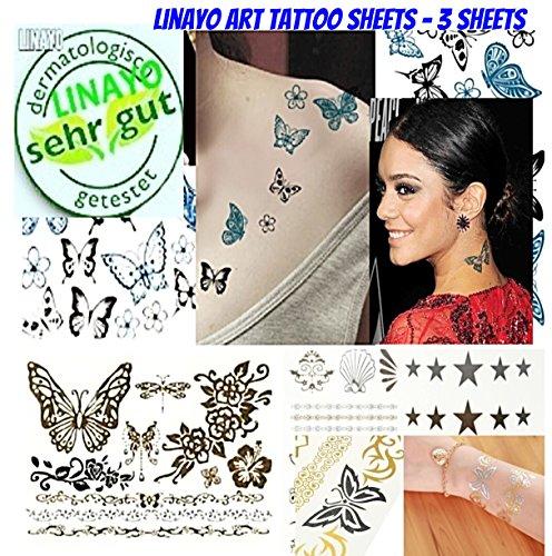 Frauen Mädchen Schmetterling Temporäre Tattoos