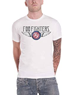 Regular//Coupe Standard G/én/érique Foo Fighters Logo Femme T-Shirt Manches Courtes Noir