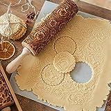 MINGRONG Mattarello Goffrato, mattarello inciso 14/16 per Cottura di Biscotti e Biscotti per Bambini e Adulti