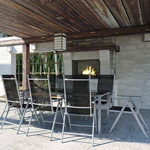 Alu Sitzgarnitur Gartenmöbel Set 9-teilig Garnitur Sitzgruppe 1 Tisch 190×87 + 8 Stühle - 3