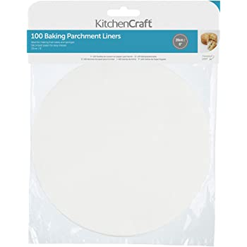 "Kitchen Craft Non-Stick Greaseproof Baking Parchment Paper, 20 cm (8"") - Round (Pack of 100)"