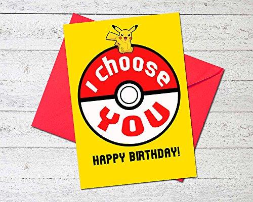 Premium Pokemon Birthday Card