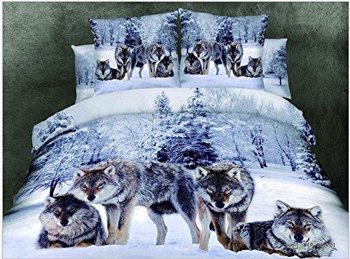 Etelux 3d Cute Animal Juego de cama, edredón conjunto, juego de sábanas, funda de almohada, Animail Desgin, tigre, Twin Size