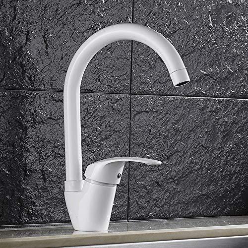 Cucsaist Wasserhahn Armatur Küche Barren Wasserhahn Waschbecken heißen und kalten Wasserhahn mit Dusche (Küche Waschbecken Armaturen Moen)