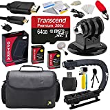 Extreme Kit For GoPro HD Hero3 Hero3 With 64GB MicroSDHC Memory Card X2 AHDBT-301 Charger HDMI Cable Tripod Adapter Stabilizing Grip Case Floating Handle Cleaning Kit And Bonus Tripod