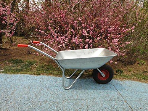 floristikvergleich.de Gartenkarre Bauschubkarre Schubkarre Lagerkarre verzinkt bis 150kg