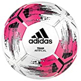 adidas Herren Team Artificial Soccer Ball White/Shock pink/Black/Silver met. 5