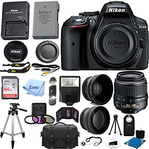 Nikon D5300 DSLR Camera (24.2MP, Black)