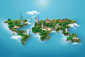 Buy world map poster peel and stick wallpaper in different sizes world map poster peel and stick wallpaper in different sizes 48 x 72 gumiabroncs Images