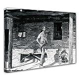 Terence Hill Bud Spencer - Der müde Joe - Sheriff - Die rechte und die linke Hand des Teufels - Leinwand (80 x 60 cm)