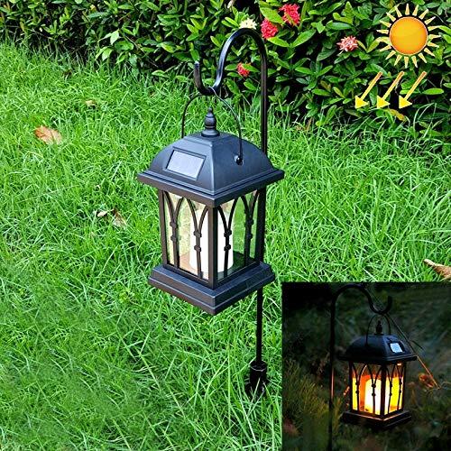 Wanda Elite Lámpara de jardín luz Solar LEH-55142G con luz Solar for jardín, con Poste y Panel Solar de silicio amorfo de 0.2 W Protección del Medio Ambiente y Ahorro de energía.