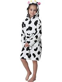 Aibrou Unisex Clásico Albornoz niña Ducha con Capucha Bebe Kimono Bata,Suave Cómodo y Agradable