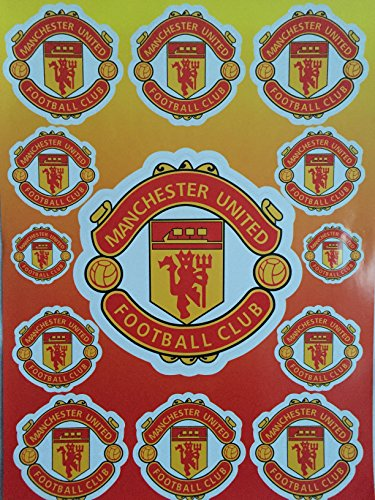 planche-de-13-stickers-autocollants-manchester-united-football-club-23x32cm
