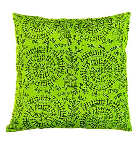 the-indian-promenade-16-x-16-cm-en-coton-melange-warli-housse-de-coussin-motif-perroquet-vert-vif