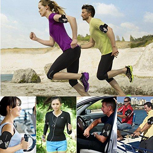 zoohot Running Gürtel, Herren Damen Fitness Gürtel & Armband Handy Tasche, Geldbeutel, Karte Tasche, Schrank Aufbewahrungstasche Oversized-Black-Y