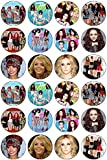 24 Little Mix Edible Wafer Paper Cup Cake Toppers