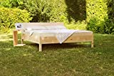 Zirbenbett 180x200 cm metallfrei, Zirbenholzbett mit Rückenlehne (180x200cm)