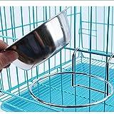 Ciotola Di Canna Da Cucina In Acciaio Inox Appeso A Forma Di Ciotola Di Acqua E Pentola Di Cibo Per Animali Da Compagnia Impiccagione Gabbia Cane Vassoi Di Gatto Pentole E Ciotole Di Grande, L-Grande