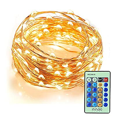 InnooLight Indoor Starry String Lights, 100 Led Firefly Fairy Lights 33ft Copper Wire 8 Mode Ambiance Lighting with Remote Control for Christmas Party, Outdoor Patio, Deck, Magical Decor for Wedding Dancing, Bedroom produced by Innoo Tech - quick delivery