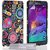 Yousave Accessories SA-EA04-Z272 Coque en gel/silicone pour Samsung Galaxy Note 4 Noir/Multicolore