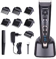 DEERCON Herren Haarschneider für Männer Haarschneidemaschine Bartschneider Haarschere Haartrimmer Barttrimmer Set Mit Präzisionstrimmer Männer für Akku- und Netzbetrieb Wiederaufladbare USB