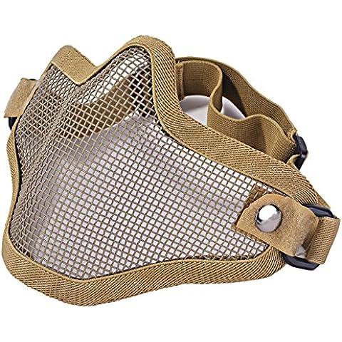 Pixnor® del fronte della maglia del metallo netto protegge la mascherina esterna caccia di Airsoft Cs Wargame Paintball Mask (una versione Belt) 4
