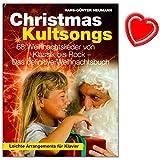 Christmas Kultsongs - das definitive Weihnachtsbuch für Klavier, Gesang, Gitarre von Hans-Günter Heumann - zeitlose Weihnachtslieder mit bunter herzförmiger Notenklammer