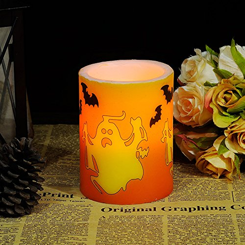 d Elektronische Candle Light Bar Dekoration Halloween Simulation Kerze, Unheimlich Ghost-Led; 240 G ()