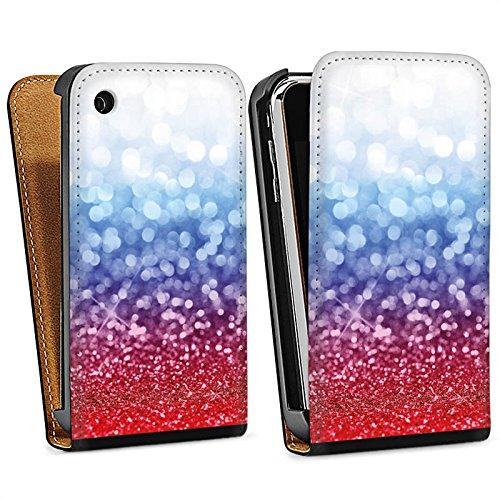 Apple iPhone 5s Housse Étui Protection Coque Russian Glitter Paillettes Drapeau Sac Downflip noir