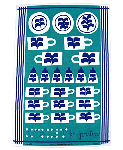 almedahls-swedish-fish-tea-towel-blue