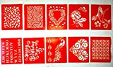 #10: Woolley Hobby Stencils for DIY Scrapbooking, Painting Stencils, Drawing Stencil, Wall Stencil, Furniture Stencil, Reusable Stencils SET OF 10 Design