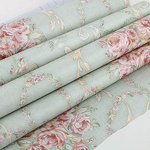 Lvcky Vintage Blume Regal Liner Kommode Schublade Aufkleber selbstklebend Schrank Schreibtisch Kontaktpapier Grün-Rose - Liner Für Kommode Schublade Papier