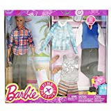 Barbie DMR49 Pink Passport Fashion Set - Blonde Ken Toy Doll with Travel Wardrobe Clothes and Passport