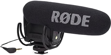 Rode VideoMic Pro Rycote Microfono Mono Direzionale a Condensazione, Mezzo Fucile, Ultra Compatto Professionale con Supporto Rycote, Nero