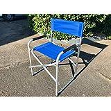 Sedia Regista Lusso Blu in Alluminio 685277 Marcata Eurolandia