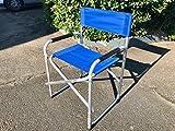 Sedia Regista Lusso Blu in Alluminio 685277 Marcata Eurolandia immagine
